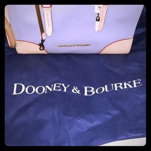 Authentic Dooney & Bourke Patent L.Grey Tote Purse